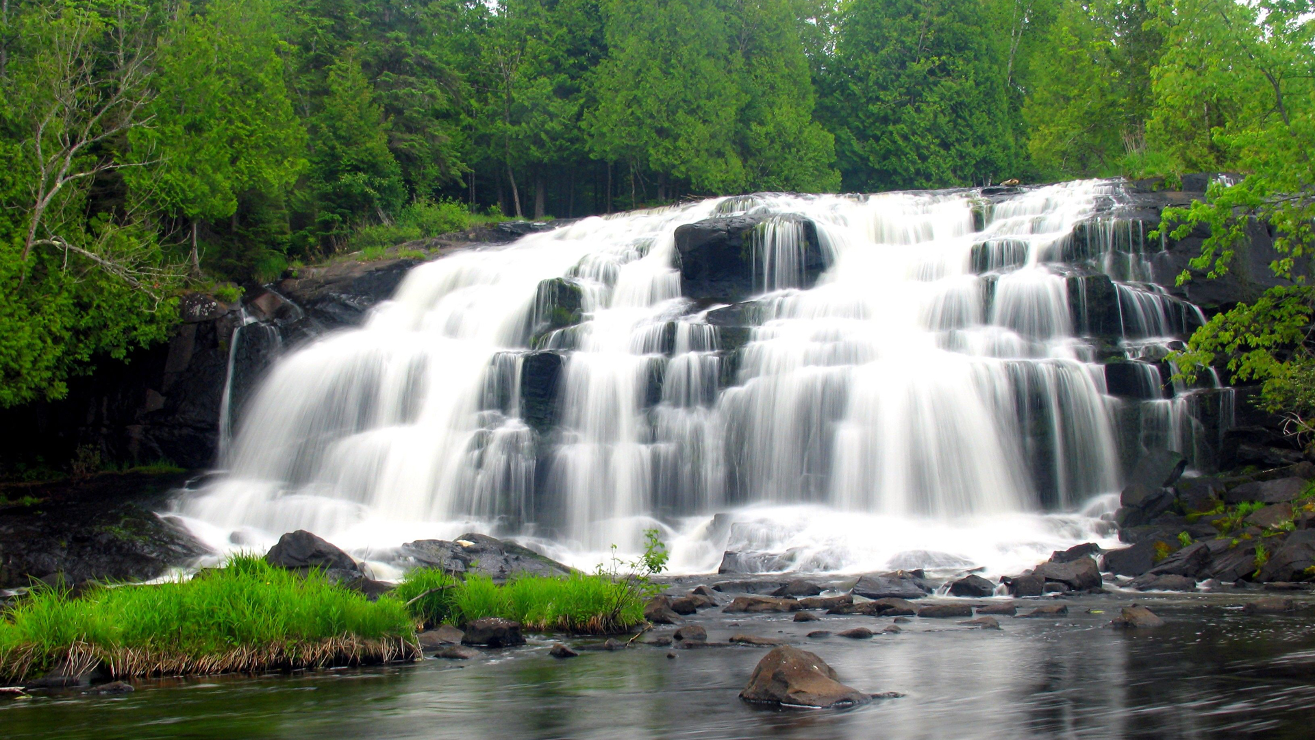 Bond Falls Michigan Map.Porcupine Mountains Ontonagon Mi
